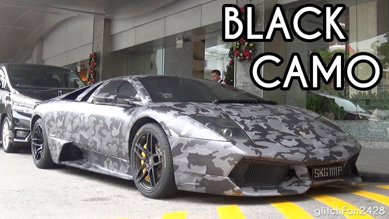 Black Camo Lamborghini Murcielago Lp670 Sv Quick Look Youtube