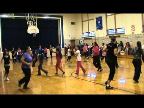 Dance Fuze Studio' s Zumbathon for cheerleaders of Dieterich Elementary School