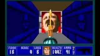 Wolfenstein 3D spear of destiny 1992  all bosses