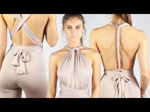 How To Wrap A Multiway Jumpsuit Tutorial | Babyboo Fashion