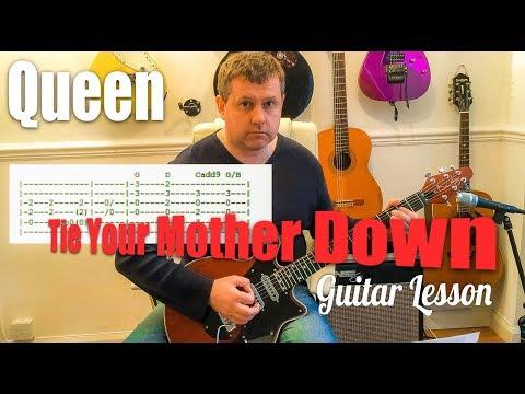 Guitar trap queen guitar tabs : Tie Your Mother Down - Queen - Guitar Tutorial - YouTube