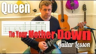 Tie Your Mother Down - Queen - Guitar Tutorial