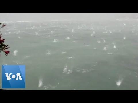 Huge Hailstones Hammer Italy, Flood Streets