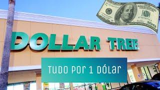 LOJA DE TUDO POR 1 DÓLAR! TUDO DADO PRATICAMENTE | DOLLAR TREE💵💵💵