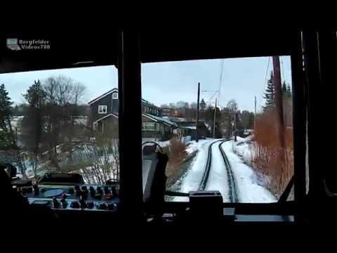 En tur med Gråkallbanen - Trondheim Straßenbahn Führerstandsmitfahrt auf ganzer Länge