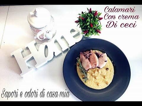 Calamari con Crema di Ceci alla Cannavacciuolo|Squid with Chickpea Cream at Cannavacciuolo