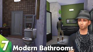The Sims 4: Room Design - 2 Modern Bathrooms