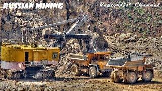 Limestone mining in Russia. Хмелинецкий карьер, добыча известняка
