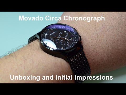 Movado Circa Chronograph unboxing.