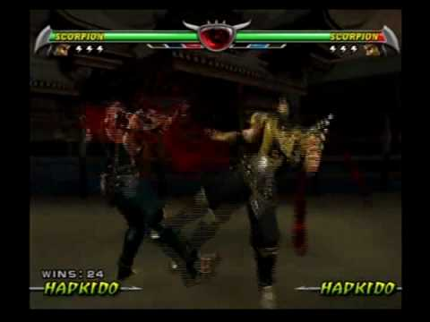 Mortal Kombat Deception - All Death Traps On Scorpion
