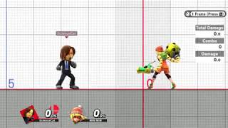 Smash Ultimate 8.0.0 (glitch?)- Mii Brawler counter throw vs. Min Min not working correctly