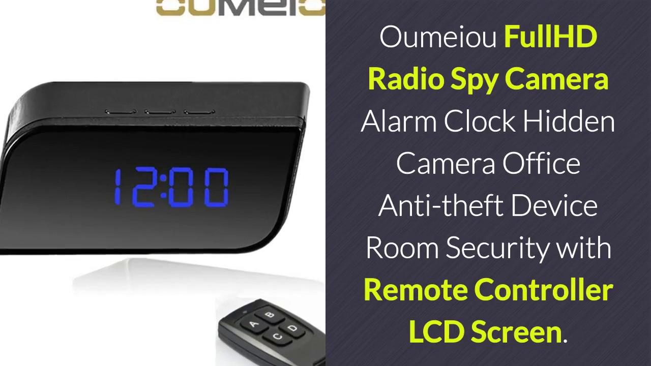 oumeiou fullhd radio spy camera alarm clock hidden camera office anti theft device room security. Black Bedroom Furniture Sets. Home Design Ideas