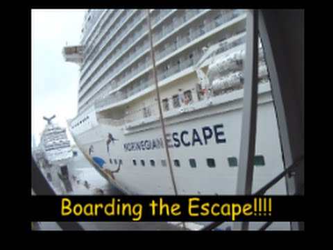 Boarding the Norwegian Escape Cruise Ship! Travel Vlog [ep1]