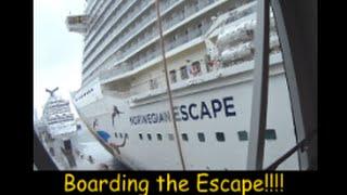 Boarding the Norwegian Escape Cruise Ship! Travel Vlog [ep1]
