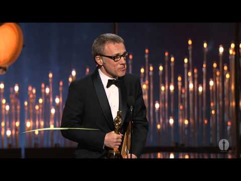 Christoph Waltz winning Best Supporting Actor for 'Django Unchained'