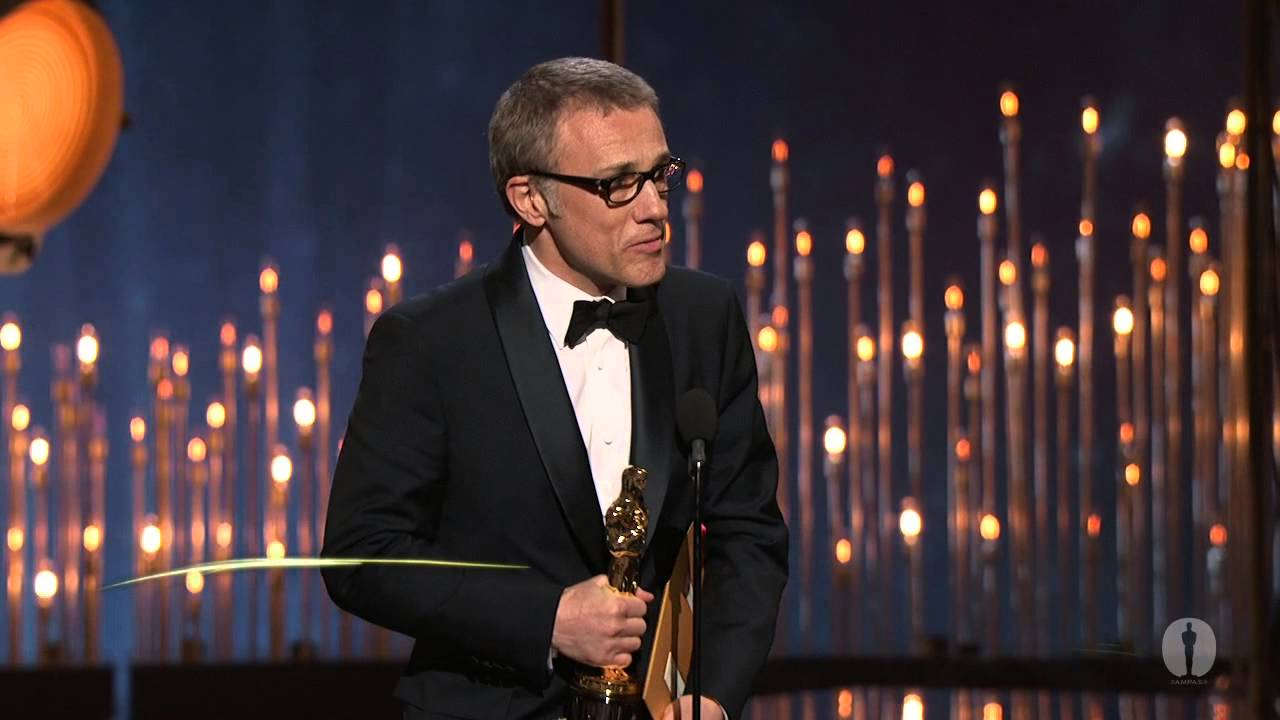 "Christoph Waltz winning Best Supporting Actor for ""Django ..."