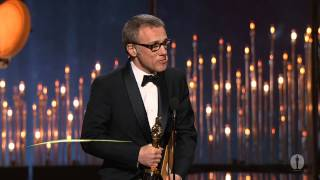christoph waltz winning best supporting actor for django unchained