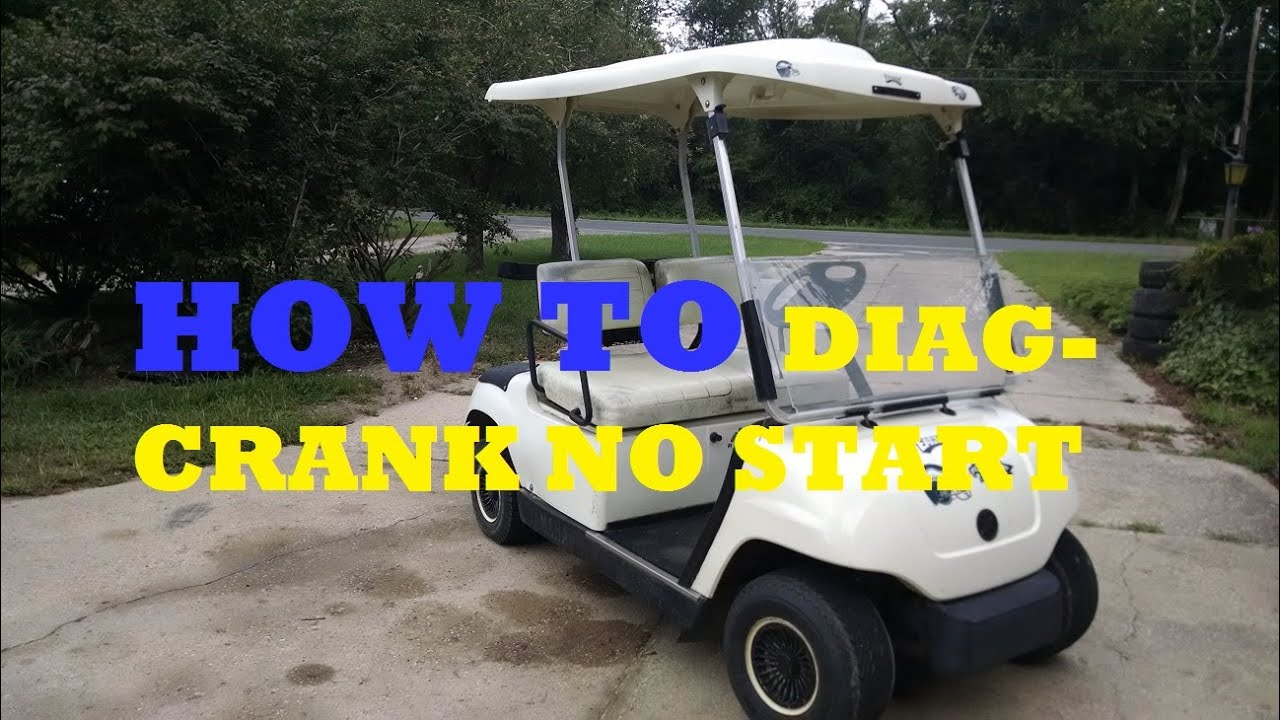 How to diagnose a crank no start yamaha g22 golf cart - YouTube Golf Cart Charging Pedistal on