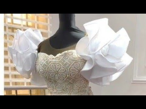 Download How to cut and sew a circular ruffle sleeves with crinoline
