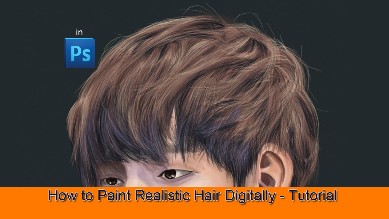 paint realistic hair digitally