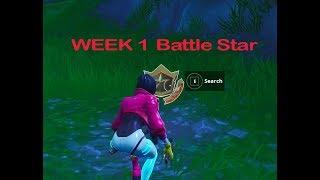 SEASON 9 WEEK 1 SECRET BATTLE STAR LOCATION - FORTNITE BATTLE ROYALE
