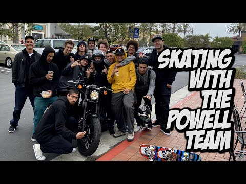 SKATING WITH THE POWELL TEAM BEFORE COVID 19 STAY HOME !!!   NKA VIDS