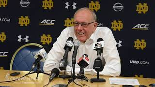 Jim Boeheim postgame news conference after Syracuse basketball at Notre Dame (2020)