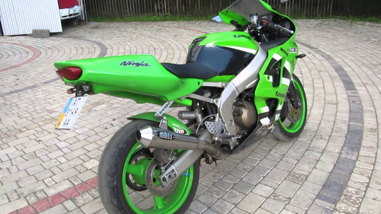 Kawasaki ZX6R Ninja 2002 Exhaust M - YouTube