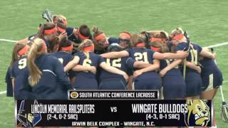 NCAA Division II Women\'s Lacrosse - Lincoln Memorial @ Wingate
