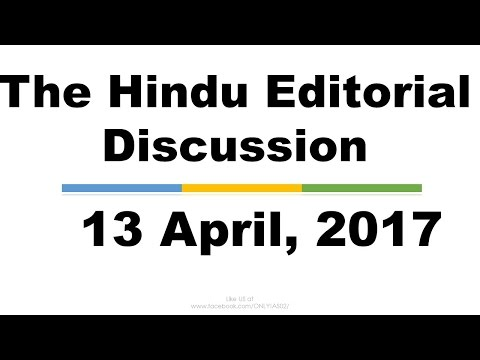 Hindi, 13 April, The Hindu Editorial Discussion, Motor Bill, India-Nepal