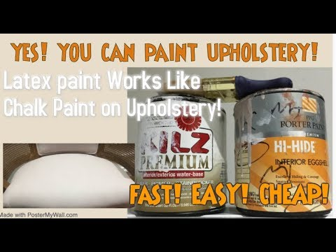 Latex Paint Upholstery Painting Tips YES You Can Paint Fabric W/O Chalk Paint Latex Paint Hack
