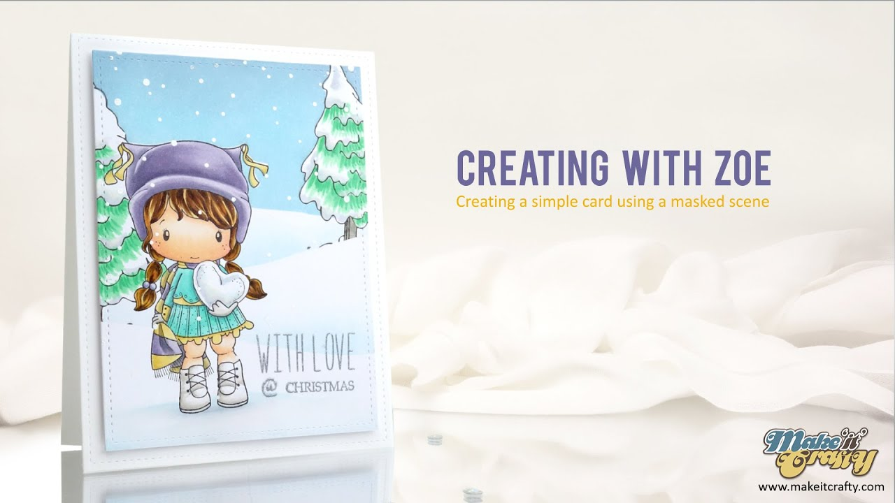 Making a card with a rubber stamp scene - YouTube
