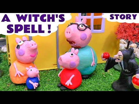 Peppa Pig Play Doh Witch's English Episode | Thomas & Friends Shopkins Batman Monsters Inc