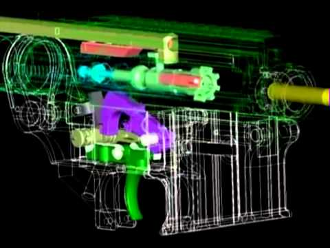 ak 47 receiver parts diagram iron carbide equilibrium m16 how it works full auto - youtube
