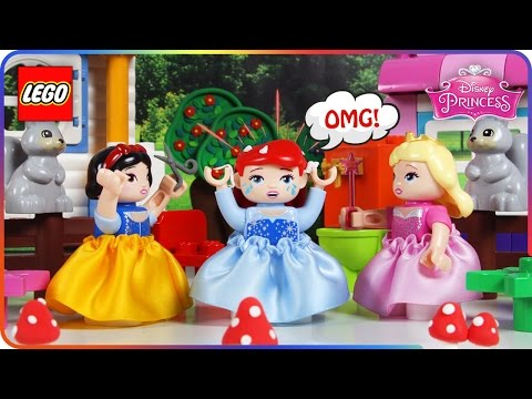 ♥-lego-disney-princess-ariel-bubble-gum-in-hair-funny-stop-motion-movie-for-kids