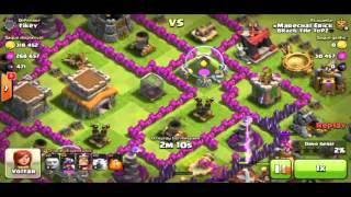 Clash of Clans - Estrategia de ataque com dragoes cv 7/cv8