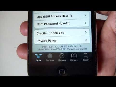 Jailbreak iOS 6.1.3 on iPhone 4 6.1.3 iOS, iPod Touch 4G iOS 6.1.3