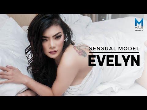 Bikin Pria Deg-degan, Mata Tajam EVELYN  - Male Indonesia   Model Seksi Indo