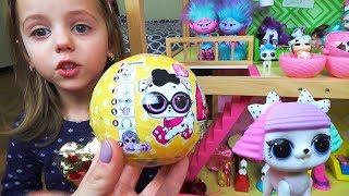 ЛОЛ Вихованці КУЛЯ Сюрприз LOL PETS SURPRISE Розпакування іграшки L. O. L Відео для дітей