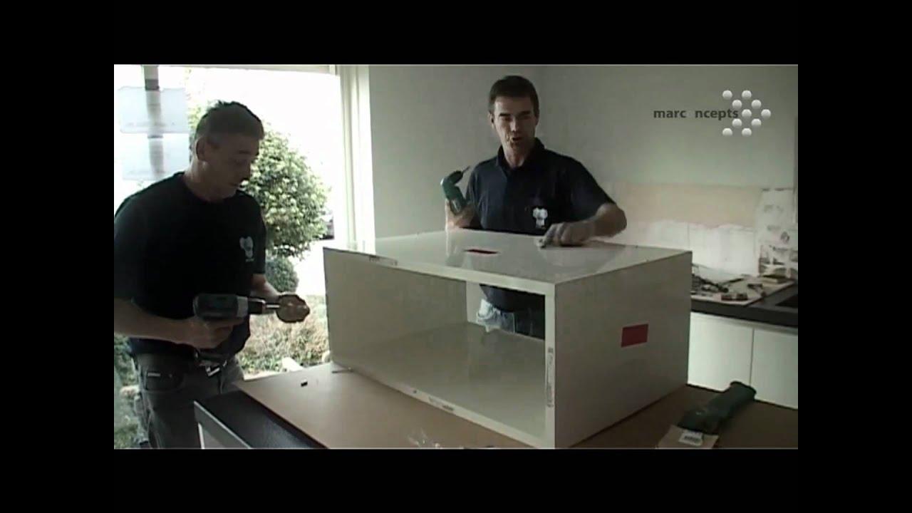 Montage en installatie van een nieuwe keuken, een videoverslag ...