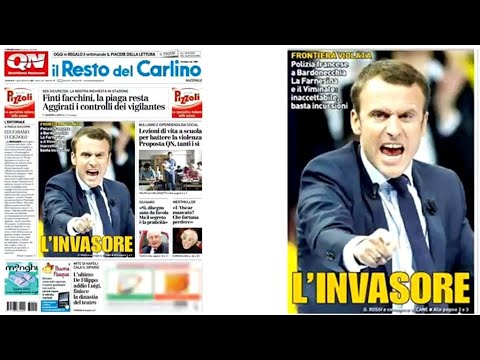 "Macron ""The Invader"" : Italian papers lash out at France over border row"