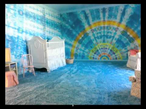 Child's tie dye room design