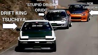Revenge touge battle; Tsuchiya AE86 Vs Spirit MR-S, Amuse S2000 (camera car)