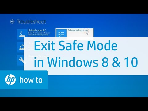 How to Exit Safe Mode in Windows 10 and 8 | HP Computers | HP - YouTube