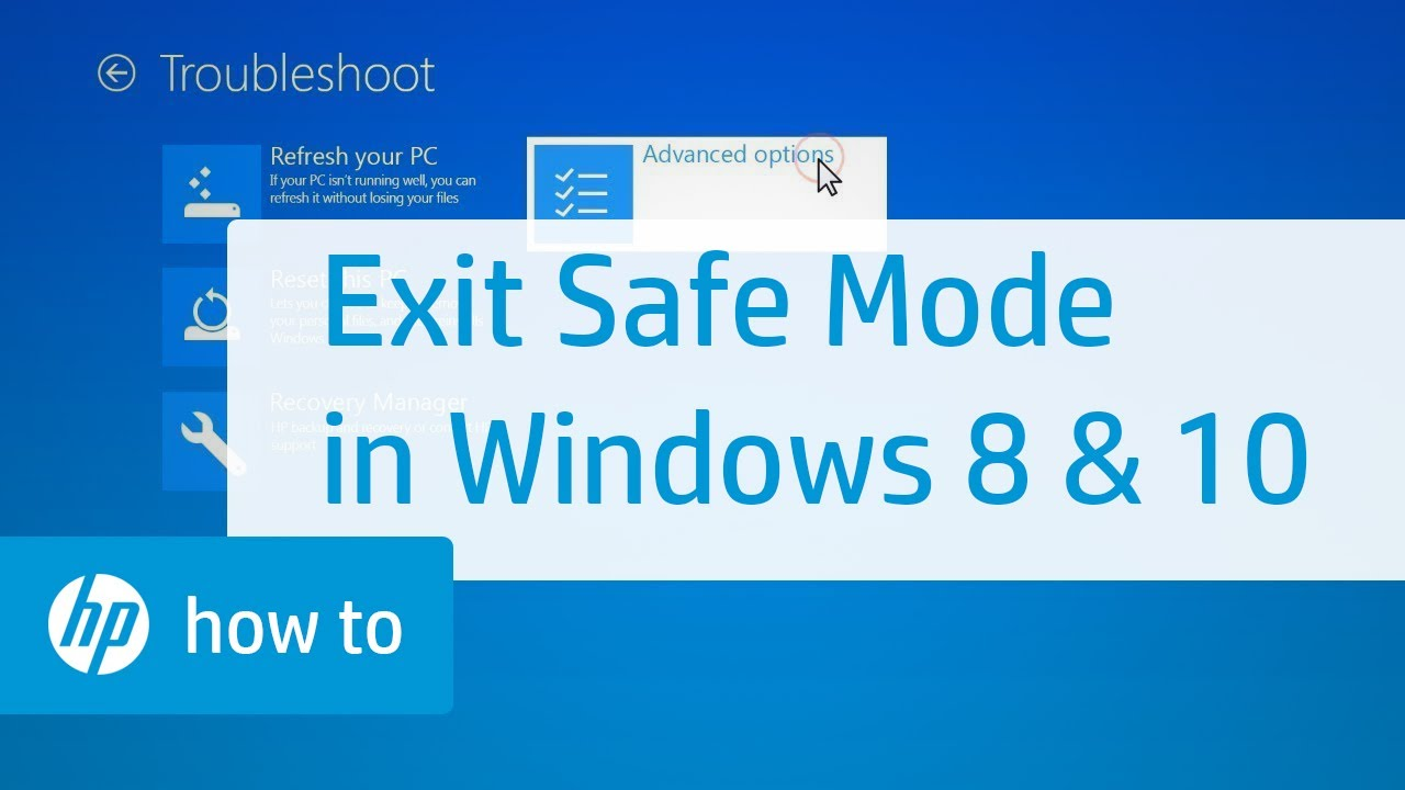 How to Exit Safe Mode in Windows 10 and 8 | HP Computers | HP