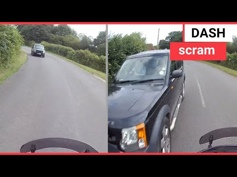Two Motorcyclists Swerve To Avoid Car | SWNS TV