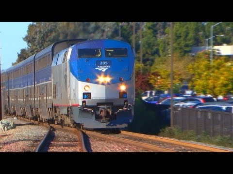 Sorrento Valley - Amtrak & Coaster Trains (December 19th, 2012)