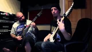 Keith Merrow and Wes Hauch of The Faceless (working)