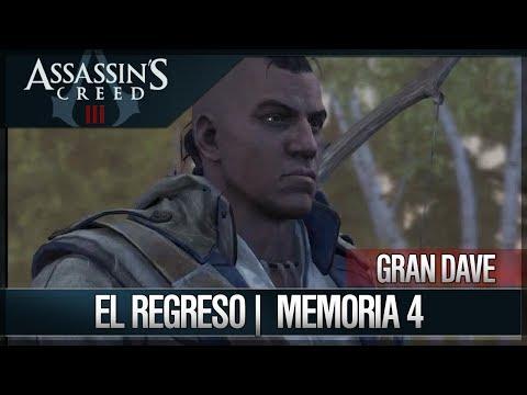 Assassin's Creed 3 - Walkthrough Español - Hacienda - Gran Dave - El regreso [4] [100%]
