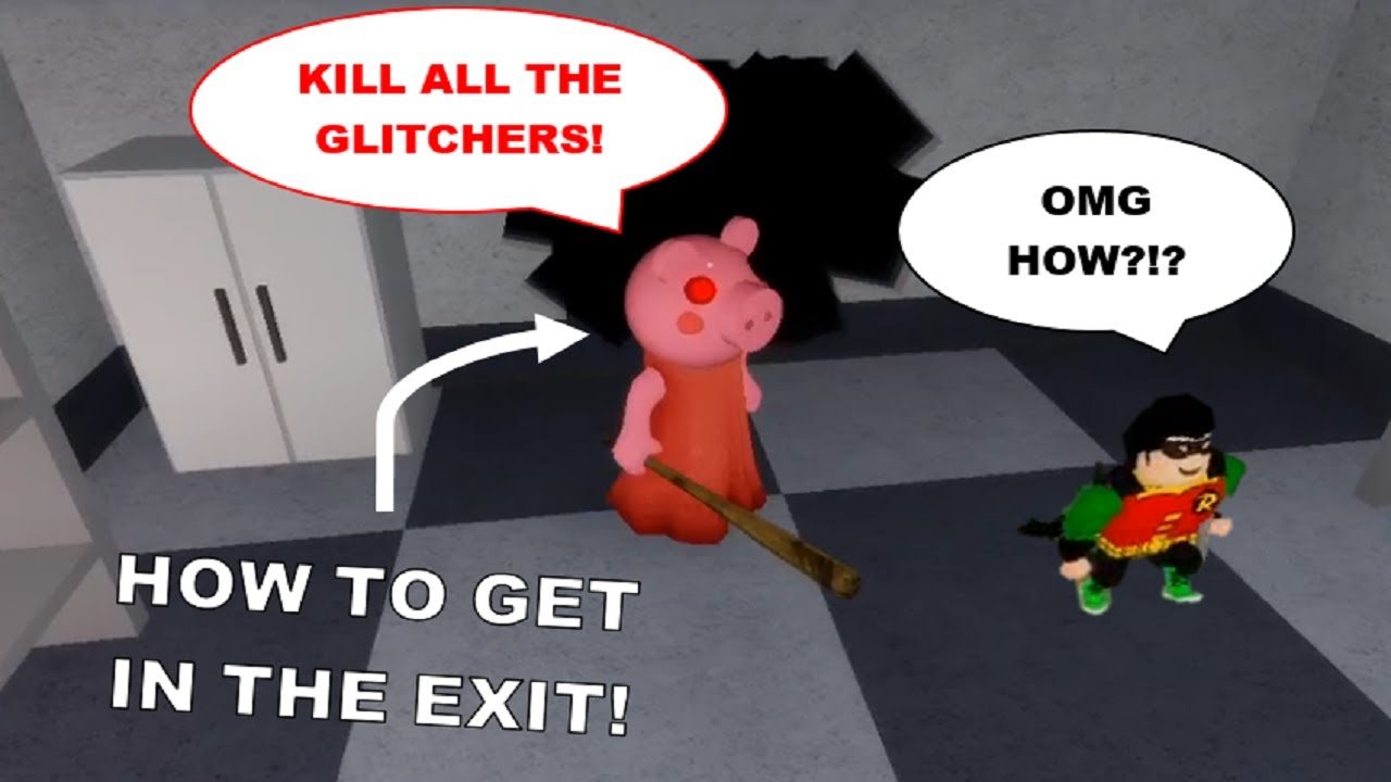 How to KILL PLAYERS GLITCHING in the EXIT in Chapter 8 - Carnival! [Roblox Piggy Glitches]